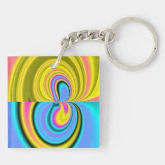 Unique abstract pattern keychain