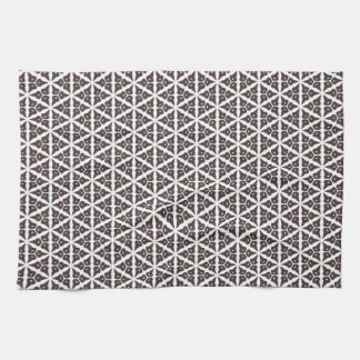 Unique Abstract Trellis Pattern Kitchen Towels