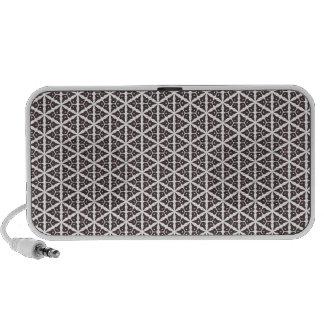 Unique Abstract Trellis Pattern iPod Speaker