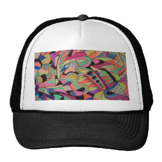 Unique Abstractions Design all colored in Trucker Hat