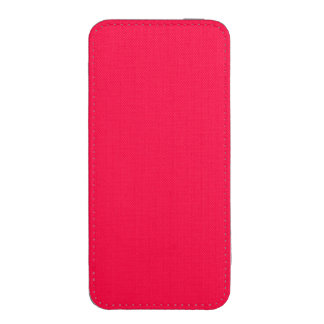 Unique American Rose Red. Simple Solid Plain Color iPhone 5 Pouch