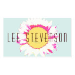 Unique and Colorful Pink, Yellow and Blue Floral Double-Sided Standard Business Cards (Pack Of 100)