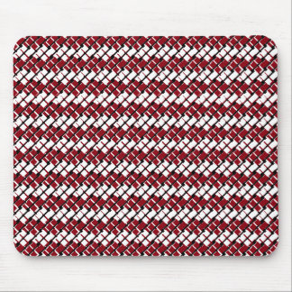 Unique and Cool Red & White Argyle Styled Pattern Mouse Pad