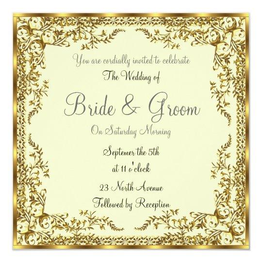 Unique Elegant Wedding Invitations: Unique And Elegant Gold Wedding Invitation