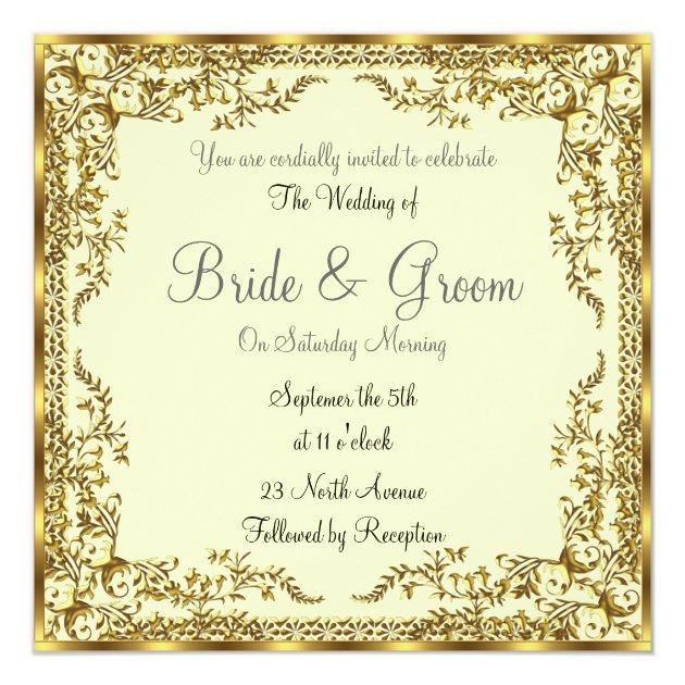 Unique and Elegant Gold Wedding Invitation | Zazzle.com