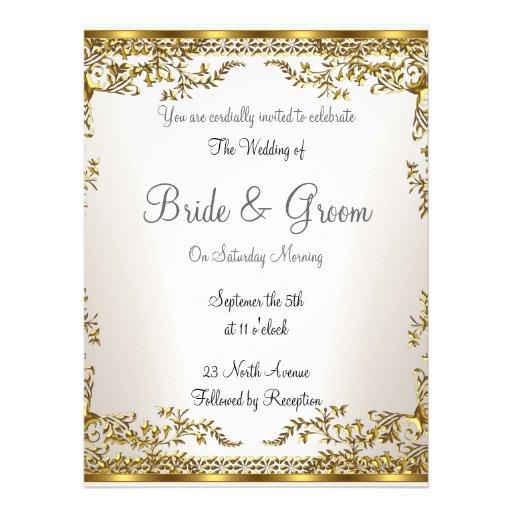 Unique And Elegant Wedding Invitation 6 5 Quot X 8 75