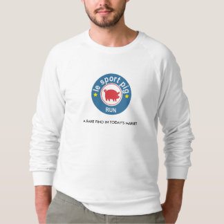 "Unique and funny ""Le Sport Pig"" Men's Sweatshirt"
