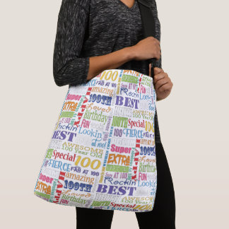 Unique And Special 100th Birthday Party Gifts Crossbody Bag