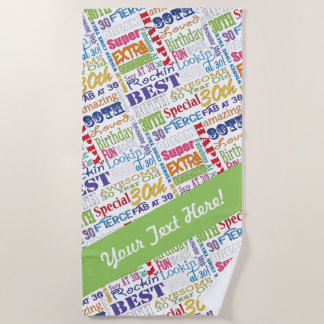 Unique And Special 30th Birthday Party Gifts Beach Towel