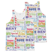 Unique And Special 50th Birthday Party Gifts All-Over-Print Tank Top