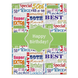Unique And Special 50th Birthday Party Gifts Card
