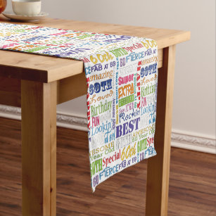 Unique And Special 60th Birthday Party Gifts Short Table Runner