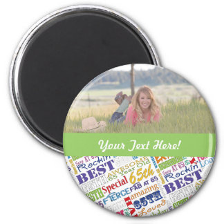 Unique And Special 65th Birthday Party Gifts Magnet