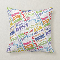 Unique And Special 65th Birthday Party Gifts Throw Pillow