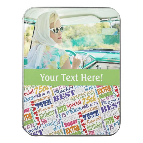 Personalized 75th Birthday Photo Jigsaw Puzzle