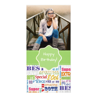 Unique And Special 80th Birthday Party Gifts Card