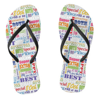 Unique And Special 80th Birthday Party Gifts Flip Flops