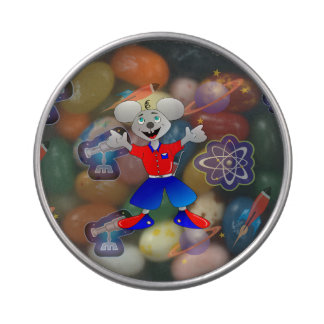 Unique and very cool space mouse jelly belly candy tins