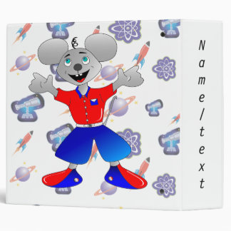 Unique and very cool space mouse vinyl binders