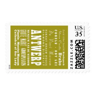 Unique Antwerp, Belgium Gift Idea Stamp