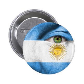 Unique Argentina flag design Pinback Button