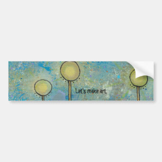 Unique art design fun painting customize your own bumper sticker