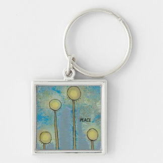 Unique art design fun painting customize your own keychain