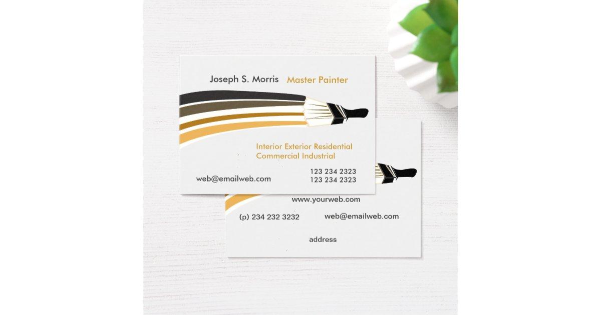Unique Artist Professional House Painters Business Card   Zazzle.com