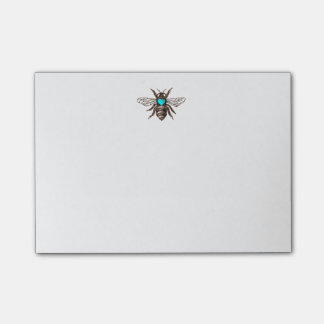 Unique Artistic Bee with Turquoise Heart Nature Post-it® Notes