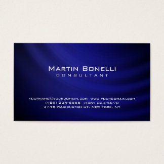 Unique artistic blue contemporary trendy business card