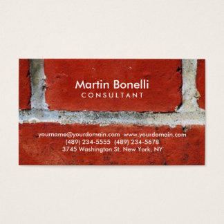 Unique artistic orange wall contemporary trendy business card