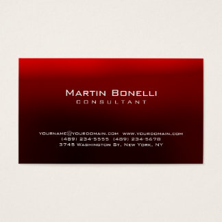 Unique artistic red contemporary trendy business card