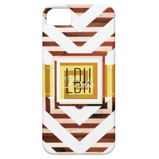 Unique Artwork with Custom Monogram and Text iPhone 5 Covers