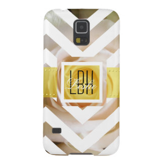 Unique Artwork with Custom Monogram and Text Galaxy S5 Case
