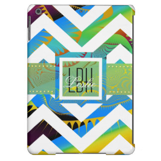Unique Artwork with Custom Monogram and Text iPad Air Cover