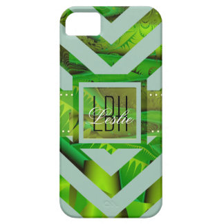 Unique Artwork with Custom Monogram and Text iPhone 5/5S Covers