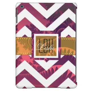 Unique Artwork with Custom Monogram and Text Case For iPad Air