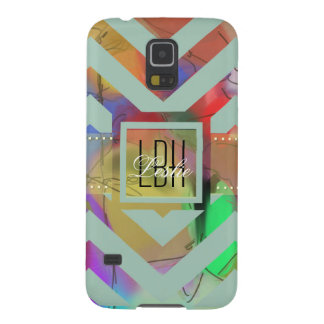 Unique Artwork with Custom Monogram and Text Galaxy S5 Cases