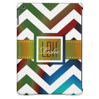 Unique Artwork with Custom Monogram and Text iPad Air Covers