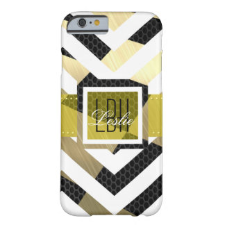 Unique Artwork with Custom Monogram and Text Barely There iPhone 6 Case