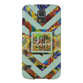 Unique Artwork with Custom Monogram and Text Cases For Galaxy S5