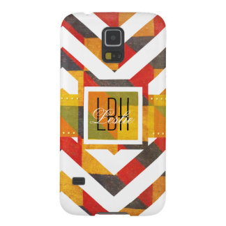 Unique Artwork with Custom Monogram and Text Case For Galaxy S5