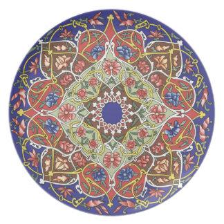 Unique Asian Floral Plate