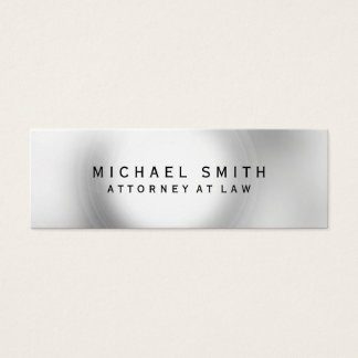 Unique Attorney at Law Grey Light Mini Business Card