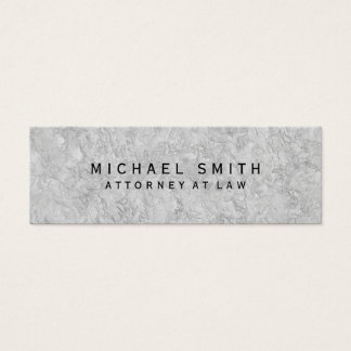 Unique Attorney at Law Grey Wall Design Mini Business Card