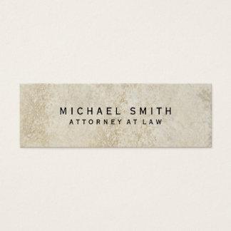 Unique Attorney at Law Wall Stone Design Mini Business Card
