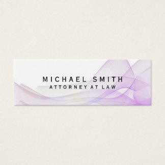 Unique Attorney at Law Wave Pattern Abstract Mini Business Card