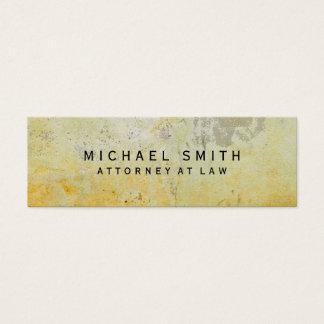 Unique Attorney at Law Yellow Mortar Wall Design Mini Business Card