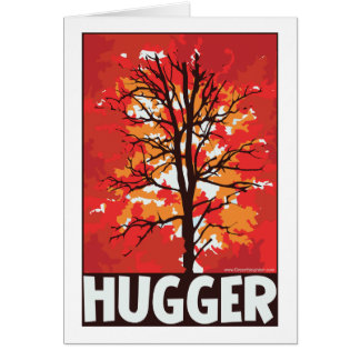 Unique Autumn Tree Hugger Card