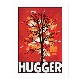 Unique Autumn Tree Hugger Postcard